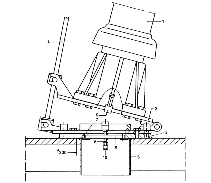 Tilting joint for MF / HF antennas