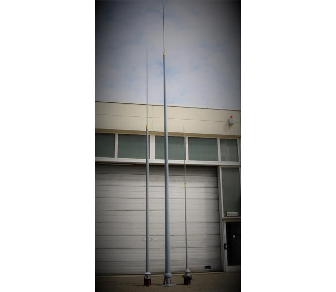 ELNA MF / HF antennas mounted